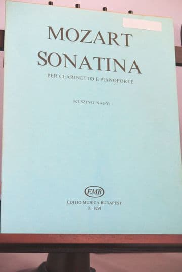 Mozart W A - Sonatina for Clarinet & Piano arr Ettlinger Y